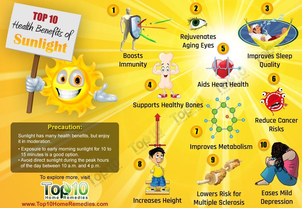 Польза для здоровья от солнечного света