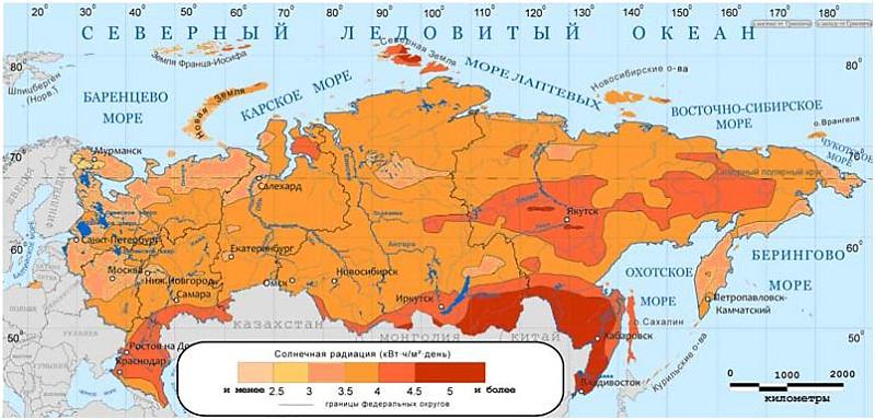 Где больше всего солнца на территории России