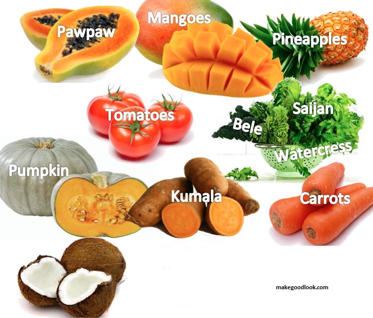 Продукты питания богатые β-каротином