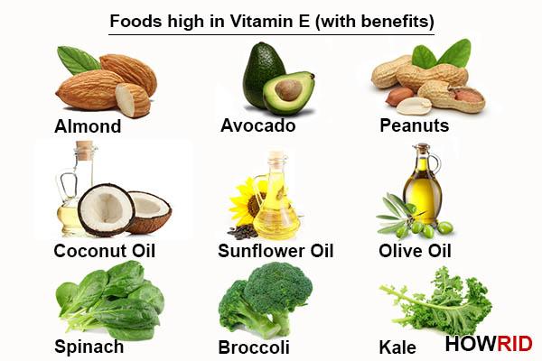Продукты питания богатые витамином Е
