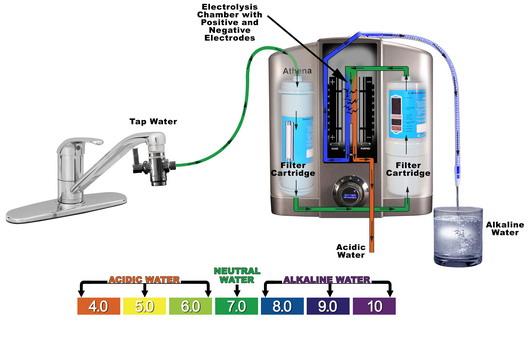 Принцип работы фильтра для ощелачивания (снижения кислотности) воды
