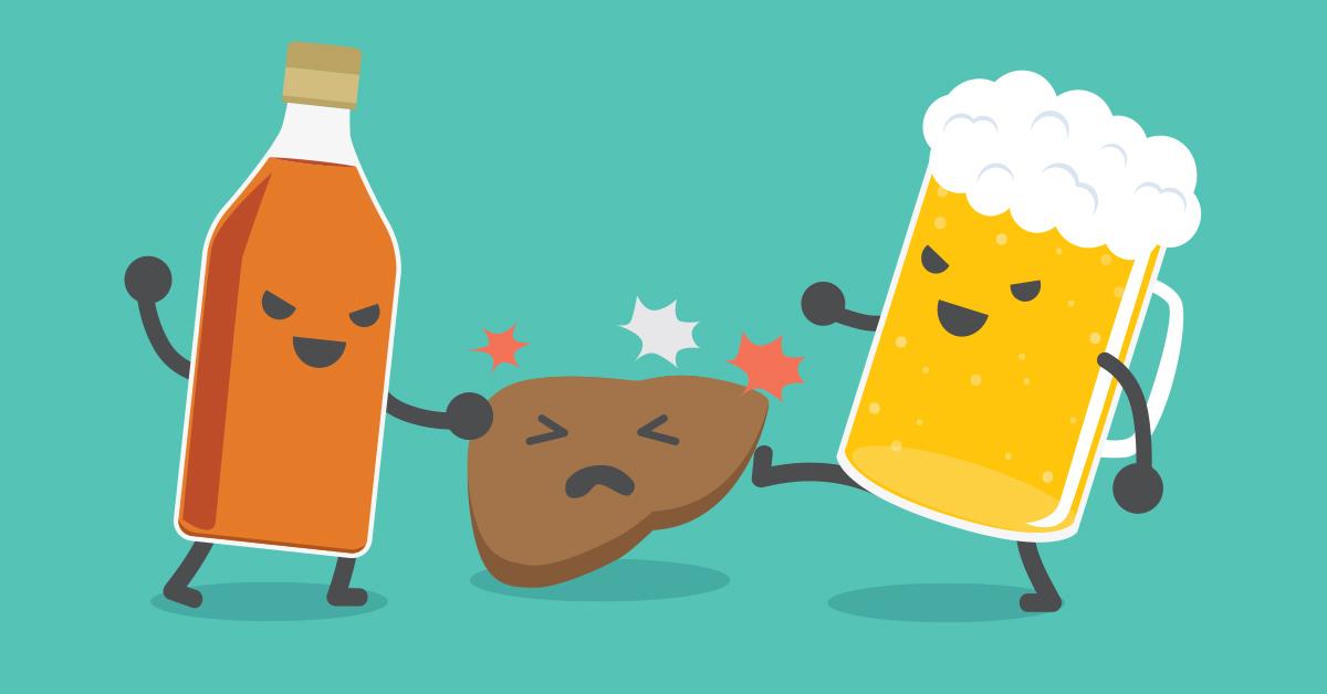 Негативное влияние алкоголя на печень