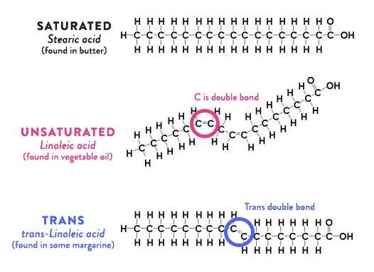 Химическая формулы различных жиров