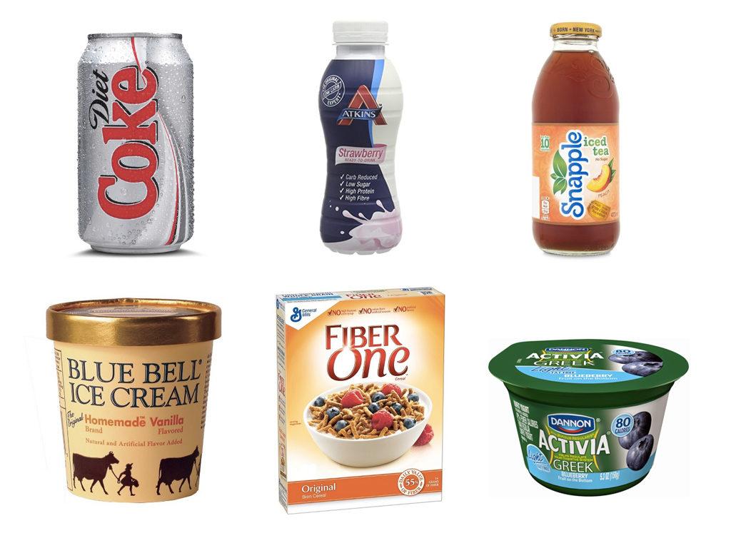 Продукты питания с искусственными подсластителями