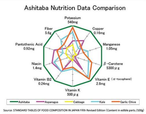 Ашитаба содержит много полезных для здоровья веществ