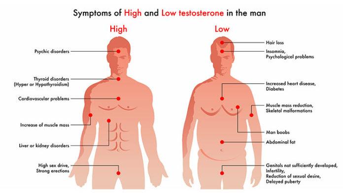 Признаки уровня тестостерона у мужчин
