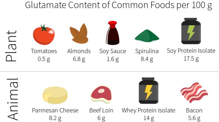 Содержание глутаминовой кислоты в продуктах питания