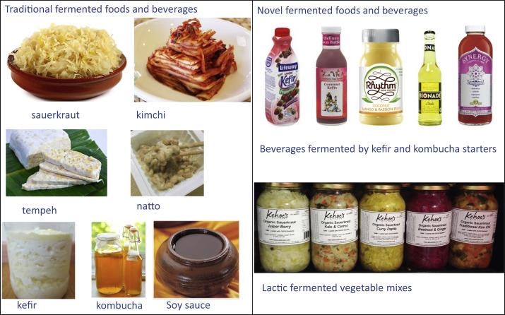 Различные ферментированные продукты питания